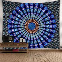 Mandala Tapestry Bunte böhmische Tapisserie Wand hängen für Schlafzimmer 130x150cm Polyester Yoga Mats Dekoration 18 Muster HWD8009
