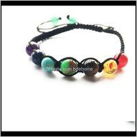 7 Chakra Bracelet 8mm Big Breads Bracelet Yoga Balance de guérison Solde Supernatural Lava Reiki Ston Qylzws Luckyhat