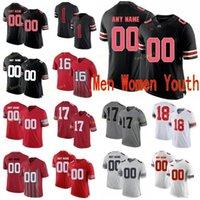 NCAA College Jerseys Ohio State Buckeyes 28 Ronnie Hickman 14 kj Hill Jr. 17 Chris Olave 1 Justin Fields 33 Zach Harrison Custo Football Coutsed