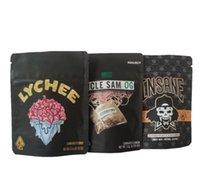 Oncle Sam Og Sac Insane Lychee Californie 3.5g Mylar Sacs Sac à glissière pour enfants pour sacs d'emballage