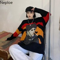 Neploe Winter Clothes Women Knitted Pullovers Harajuku BF Sweaters Woman Oversized Outwear O-neck Long Sleeve Thicked Jumper