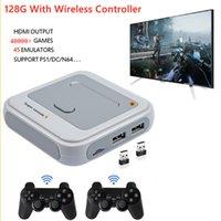 슈퍼 콘솔 x 2.4G 무선 게임 콘솔 40000 레트로 PS1 네스 GB 게임 지원 4 명의 플레이어 와이파이 4K 비디오 게임 플레이어 홈 플레이 박스 선물