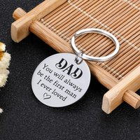 Keychains Step Dad Father Keychain Fathers Day Gift For Puppy You Will Always Be The First Man I Ever Loved Wedding Gifts