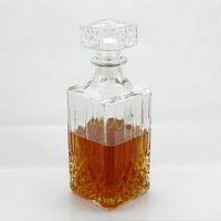 Garrafas de água ykpuii 800ml vintage vintage licor uísque de vinho cristal frasco bebida decantador garrafa barra