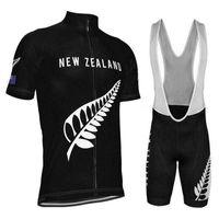 """2021 فريق ريترو كلاسيكي نيوزيلندا """"GO أسود"""" الرجال ركوب الدراجات جيرسي مريلة مجموعة مكافحة الأشعة فوق البنفسجية، تنفس، سريعة الجافة، مكافحة تقلص"""
