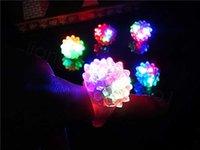 Blinkende Glühen blinkende weiche Gelee-Blase-Licht-LED-Rave-Party Favor Kinder-Geschenk-Kunststoffring 100pcs / lot FFA3475 PNAK