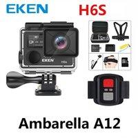 Eken H6s Action WiFi Caméra 4K 30FPS ULTRA HD avec Ambarella A12 Chip à l'intérieur de 30 m imperméabilisez-vous Mini Cam Pro Sport Camera EIS 210319