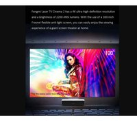 Fengmi 4K Cinema Pro Laser Projector 2400 ANSI Lumens 3GB 64GB 300 inch ALPD 4K BT4.0 New Fengmi OS Projector Formovie
