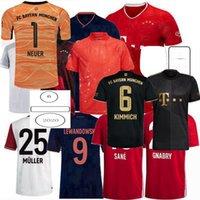 2021 2022 Bayern Jerseys de futebol Upamecano Pavard Coman Zirkzee Hernandez Goretzka Neuer Muller Lewandowski Munique Sane Kimmich 20 21 22 Camisa de Futebol S-4XL