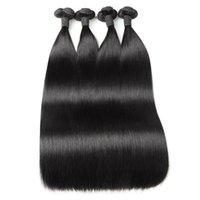 100A Double Double Straighn Straighn Human Hair Bundles 3 / 4bungs Péroues brésiliennes Péruviennes Péruviennes Extensions de cheveux indiens
