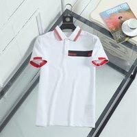 Tasarımcı Erkek Monclaires Polo Gömlek Kadın MC T-Shirt Moda Giyim Nakış Mektubu Iş Kısa Kollu Calssic Tişört Kaykay Rahat Tees