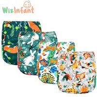 Wizinfant 2 unids / lote Eco-Friendly Big XL Pañal de pañales para bebé 2 años y más, pañales de pañales lavables ajustables