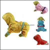 Dog Supplies Home & Gardendog Apparel Pu Waterproof Small Medium Raincoat Clothes Jacket With Hood Pet Tools Plus Size 30 For Large Dogs Dro