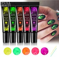 Nail Gel Stamping Set Summer Fluorescent Neon Decoration Transfer Print Oil Varnish For Art Plate CH1916-2