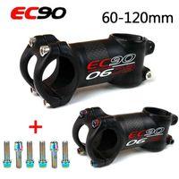 EC90 31,8 Hastes de Mountain Bike Carbon 6 / 17degrees Haste Curta Bicicleta Sterm 60-120mm Bicicleta Accesorios Guidão Hastes 210420