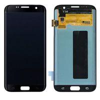 Samsung Galaxy S7 Kenar LCD Ekran için Dokunmatik Paneller Yedek G935 G935A G935P G935T G935V Orijinal Ekran Digitizer Meclisi Yapıştırıcı ile