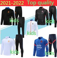 2021 ريال مدريد رياضية تدريب كرة قدم دعوى Survetement 21/22 Kids Camiseta de Futbol Hafard Chandal Football الركض
