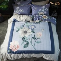 Bedding Sets -Selling Chinese Wind Series Set Household Four-Piece Full Cotton Large Printing Pillowcase Quilt Cover Bed Linen