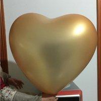 Decorazione del partito 5 pz / lotto 36 pollici a forma di cuore grande palloncini da sposa 23g 10 colori Ballon Helium gonfiabile100% Love Latex