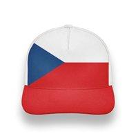 República Checa Homem Juventude Cap DIY Nome Personalizado Número CZE Boy Chapéu Nação Bandeira Czechia País Cz Colégio Impressão Foto Baseball Caps