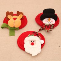Christmas Ornaments Red Wine Coaster Christmas Wine Glass Foot Cover Table Decoration For Xmas Gifts DWD10995