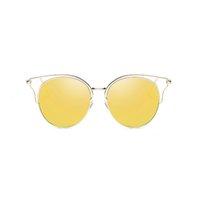 Солнцезащитные очки Uanview (Uanview женские моды поляризованные металлические красочные полые WD0874