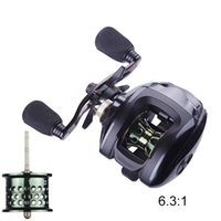 Baitcasting Reel 12+1 Ball Bearing Shallow High Speed Baitcast Fishing Reels 6.3:1 Gear Ratio with 5.5KG Max Drag Saltwater Right Left Handed Bait Cast Fish