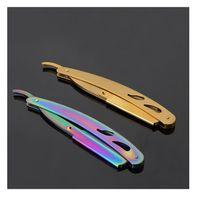 Erkekler Profesyonel Düz Kenar Kuaför Razor Jilet Bıçakları Klasik Seyahat Ev Sakal Tıraş Epilasyon Araçları 4 Stilleri