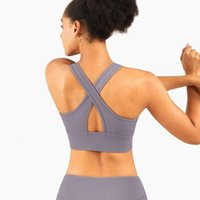 Yoga Outfit Crop Tops High Impact Sportbra Active Wear Women Breathing Workout Bh Fitness Gym Training Soft Athletic Vest Bras