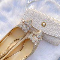 Women Princess Wedding Dress Bride shoes Diamonds Crystal stiletto heel Champagne Shallow mouth Slip-On pointed toe Luxury Sexy Bridesmaid shoes