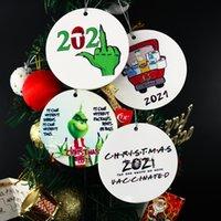 2021 جرين الحجر الصحي عيد الميلاد زخرفة عيد الميلاد شنقا الحلي شخصية لعيد الميلاد شجرة ديكور ارتداء قناع مصمم FY4827