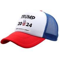ABD Stok 2021 Parti Hediyeler Trump 2024 Polyester Beyzbol Kap Şapka Kadınlar için Beş Yıldız Erkek Çok Renkli Bir Boyut Tüm Uyar