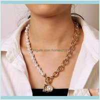& Jewelryfashion Casual Neck Chain Necklaces For Women Round Marble Pendants Hiphop Female Jewelry Necklace Gift Chains Drop Delivery 2021 P