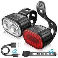 Bike Lights Rear Mini LED Bicycle Tail Light Helmet Backpack USB Chargeable IPX4 Waterproof Safety Warning Cycling