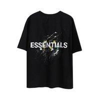 2021 Angst vor Gott Nebel Essentials doppelseitig Druck T-shirt Freizeit T Shirts Buchstaben Mode Trends Tshirt Mens Womens Designer Kurzarm