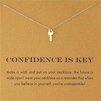 Nouveaux colliers dodues avec Carte Gold Elephant Heart Clé Trèfle Horseshoe Triangle Charme Pendentif Collier Femmes Mode Bijoux Cadeau 152 R2