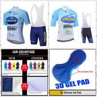 DELKO Takım Yaz Kısa Kollu Bisiklet Jersey Önlüğü Şort Setleri Dağ Bisikleti Giysileri Nefes Açık Sportwear A6163