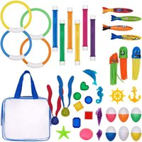 Pool & Accessories Swimming Diving Toys Various Underwater Rings Number Sticks Girls Boys 39 Pieces