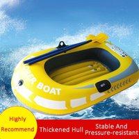 0,25 mm amarillo simple o doble barco sin remo espesado de goma inflable PVC para la playa de la playa recreativa de la playa del agua al aire libre