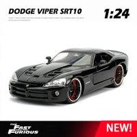 Nuovo 124 Dodge Viper SRT10 Toy Ley Car Diecasts Toy Vehicles Auto Modello auto Modello in miniatura Modello Giocattoli per auto per bambini