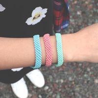 Beaded, Strands Trendy Taiwan Wax Rope Macrame Bracelet Women Minimalist Colorful Handmade Woven Braclet Girl Jewelry Present For Friends