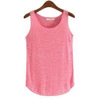 Spring Summer Tank Tops Women Sleeveless Round Neck Loose T Shirt Ladies Vest Singlets10 Colors 100% Cotton Women's Blouses & Shirts