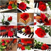 Evershine 5d DIY Malerei Rose Violine Diamant Stickerei Blume Kreuzstich Bild von Rhinestones Kunst Dekoration