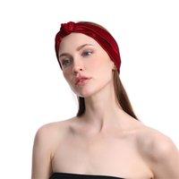 Kadınlar Katı Renk Çapraz Kafa Spor Yoga El Yapımı Elastik Geniş Saç Bandı Kadın Yıkama Yüz Hairband Moda Retro Kafa GGA4104