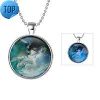 Luminous series constellation Taurus (blue) luminous necklace jewelry wholesaler wholesale website factory direct sales ygn134-a