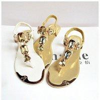 Padegao Femme Sandales 2020 Mode Haute Qualité Strass Femmes Flip Flip Chaussures Dames Casual Summer Beach Chaussures PDG752 U37A #