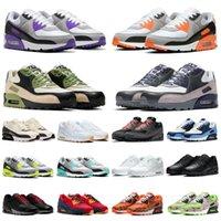 Nike air max 90 airmax 90 패션 트리플 블랙 화이트 남성 운동화 적외선 카모 전세계 프리미엄 se 레드 하이퍼 포도 로얄 90s 남성 여성 트레이너 스포츠 스니커즈