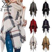 Z-Z-ZOUX Damen Pullover Rollkrageneck Gestrickte Pullover Übergroße Strickmantel Tassel Cape Schal Lose Winter Pullover Frauen Strickwaren 2020 lj201017