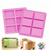 6 Cavity Square Silicone Mold Pudding Candy Mold Craft Soap Mould Decorating Handmade Candle Mold