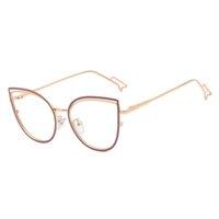 Mulheres Eyeglasses Quadro Acetato 2021 Cat-Eye Alta Qualidade Moda Moda Homens Elegante Vidros Femininos Prescrição Óptica Eyewear ES95597